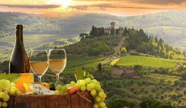 Виноград, вино, закат